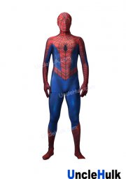 Web Spiderman Red and Blue Lycra Zentai Halloween Cosplay Costume (without lenses)