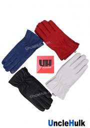 Power Rangers' Genuine Leather Short Gloves Cosplay Props Masked Rider Gloves | UncleHulk